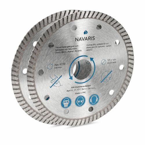 2x Disque diamant 125 mm pour céramique pierre béton métal carrelage