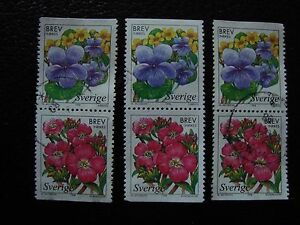 SUEDE-stamp-yvert-and-tellier-n-2043-2044-x3-obl-A29-stamp-sweden-U