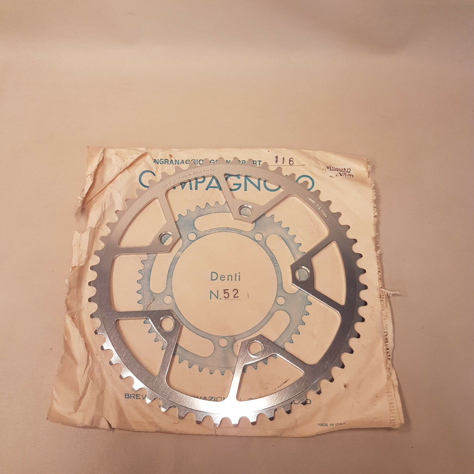 Campy Gran Sport Victory,  Triomphe, and Ofmega 52 X 116 BCD Chainring NOS  clients first reputation first