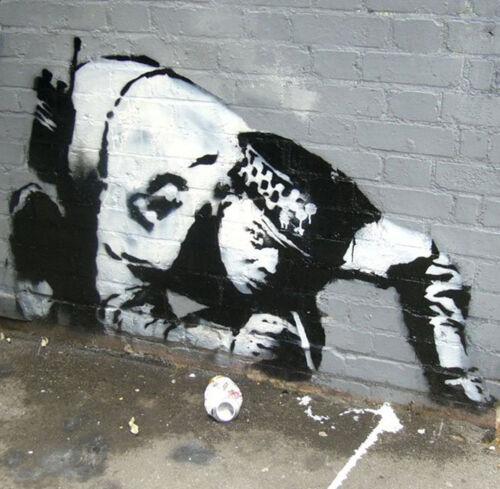 BANKSY COP SNORTING GRAFFITI  ART  GICLEE PRINT FINE CANVAS