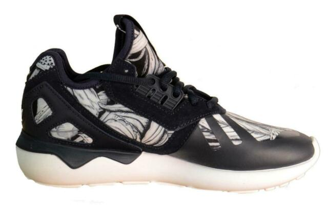 18ef160b80e0 adidas Originals Tubular Runner W Print Black White Womens Running ...