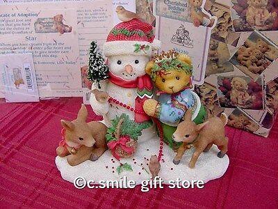 Cherished Teddies *STAR - Snowman* #534250 1999 Ltd Ed Enesco MIB Ret