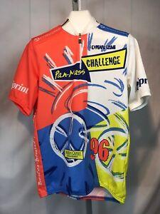 Pearl-Izumi-Mens-Bike-Jersey-Size-XL-Cycling-Shirt-Zippers-Broke-1996-PMC-AL