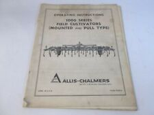 Allis Chalmers 1000 Series Field Cultivator Mounted Amp Pull Type Operators Manual