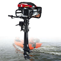 Us 7hp Outboard Motor Inflatable Fishing Boat Engine 4-stroke Air Cooling System