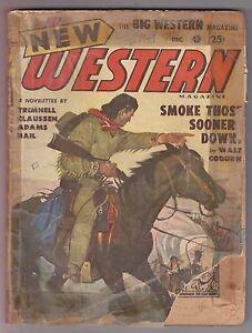 New-Western-Dec-1949-Pulp-Walt-Coburn-Clifton-Adams-Robert-L-Trimnell-Steve-Hail