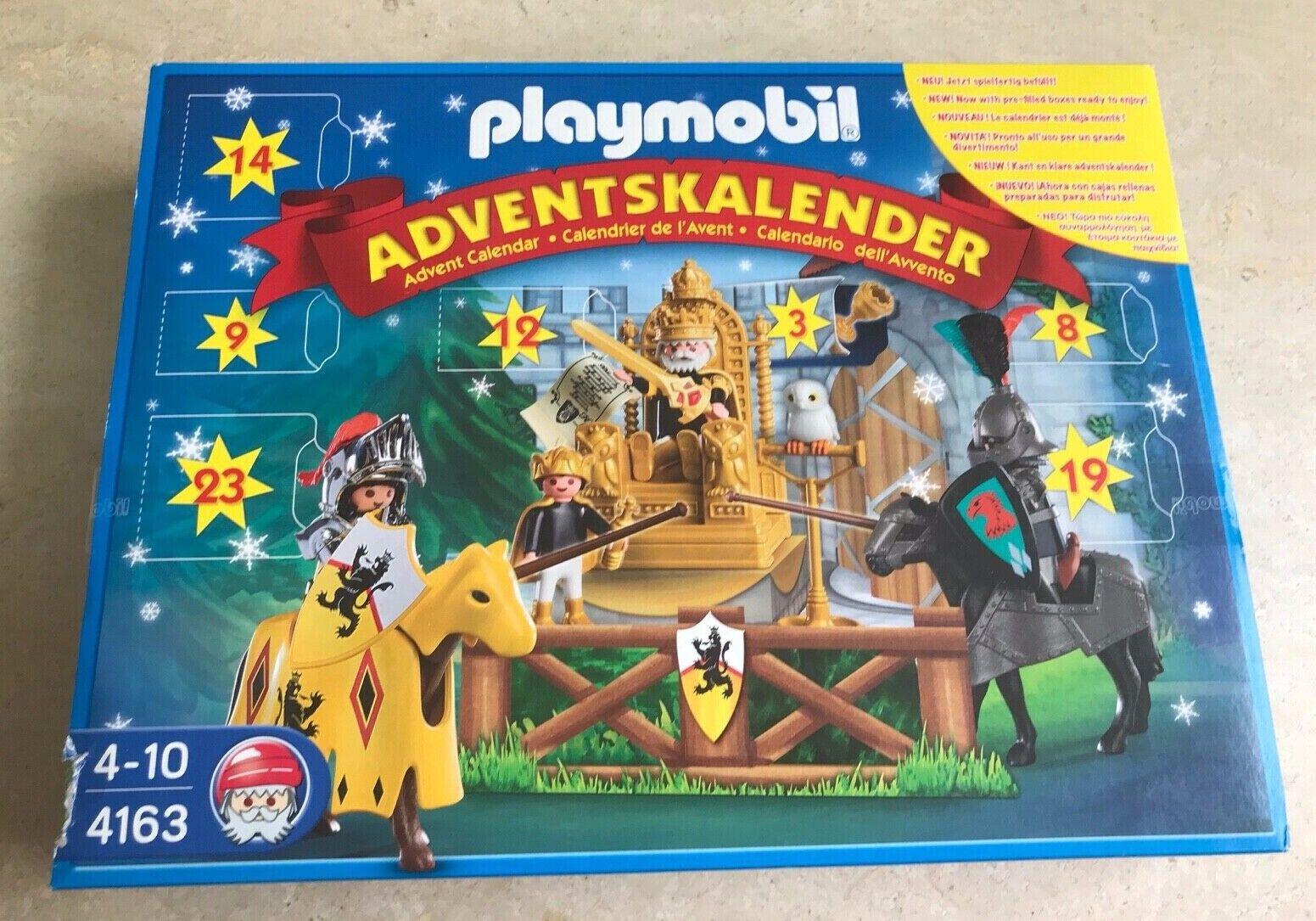 JEU PLAYMOBIL  CALENDRIER DE L'AVENT - LES CHEVALIERS  - 4163 - RARE