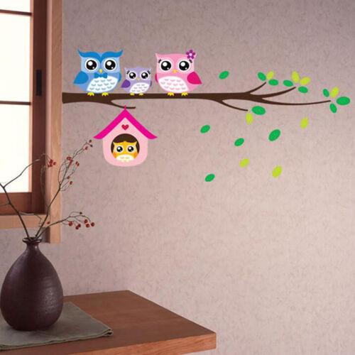 PVC Cute Cartoon sticker Owl Tree Wall Stickers for Kids Bedroom Kindergarten