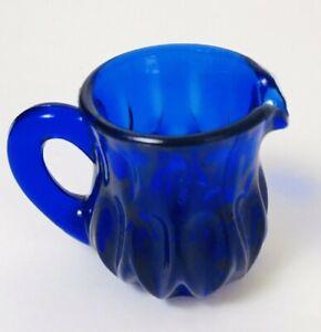 BOYD-ART-GLASS-COBALT-BLUE-PITCHER-TOOTHPICK-HOLDER-2-5-034-TALL