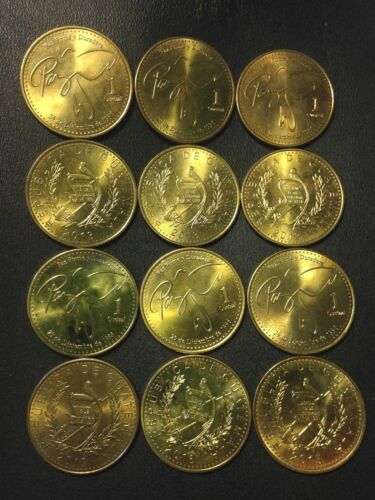 Hard to Find Type 12 EXCELLENT Quetzals FREE SHIP Old Guatemala Coin Lot