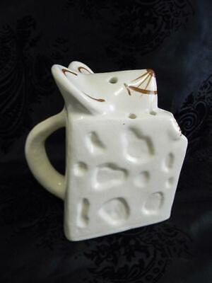 Vintage Japanese Ceramic Mouse Cheese Wedge Sugar Dish