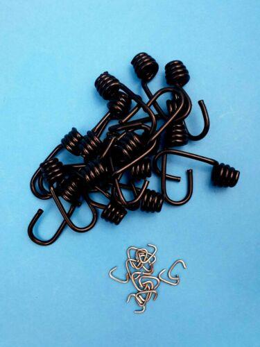 Clips Haute Qualité Monoflex PP 6 mm noir élastique//Sandow Crochets