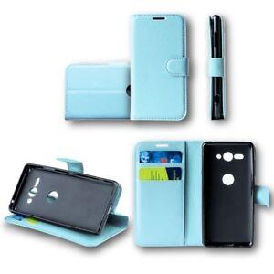 Para-Samsung-Galaxy-A7-A750F-2018-Cartera-de-Bolsillo-Premium-Azul