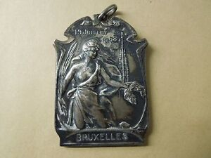 N37   ART  NOUVEAU  MEDAL  1908  NUDE  WOMAN  SEE DESCRIPTION