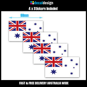 Australian-Navy-White-Ensign-Sticker-4-PACK-of-Decals-60mm-Wide