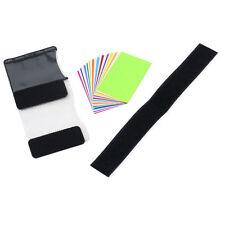Bright Strobist Flash Color Card Light Diffuser Gel Pop Up Filter for Camera