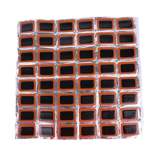 48Pcs Bicycle Tire Tyre Tube Rubber Puncture Patches Road Bike Repair  KiW DR