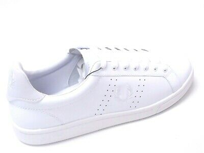 Fred Perry B721 White Leather Mens