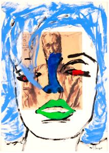 Marilyn-Monroe-Original-Painting-over-1919-Bourdelle-Drawing-Art-Neal-Turner