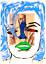 Marilyn-Monroe-Original-Painting-over-1919-Bourdelle-Drawing-Art-Neal-Turner thumbnail 1