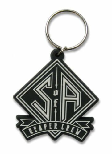 SONS OF ANARCHY reaper crew 2014 shaped RUBBER KEYCHAIN official merchandise