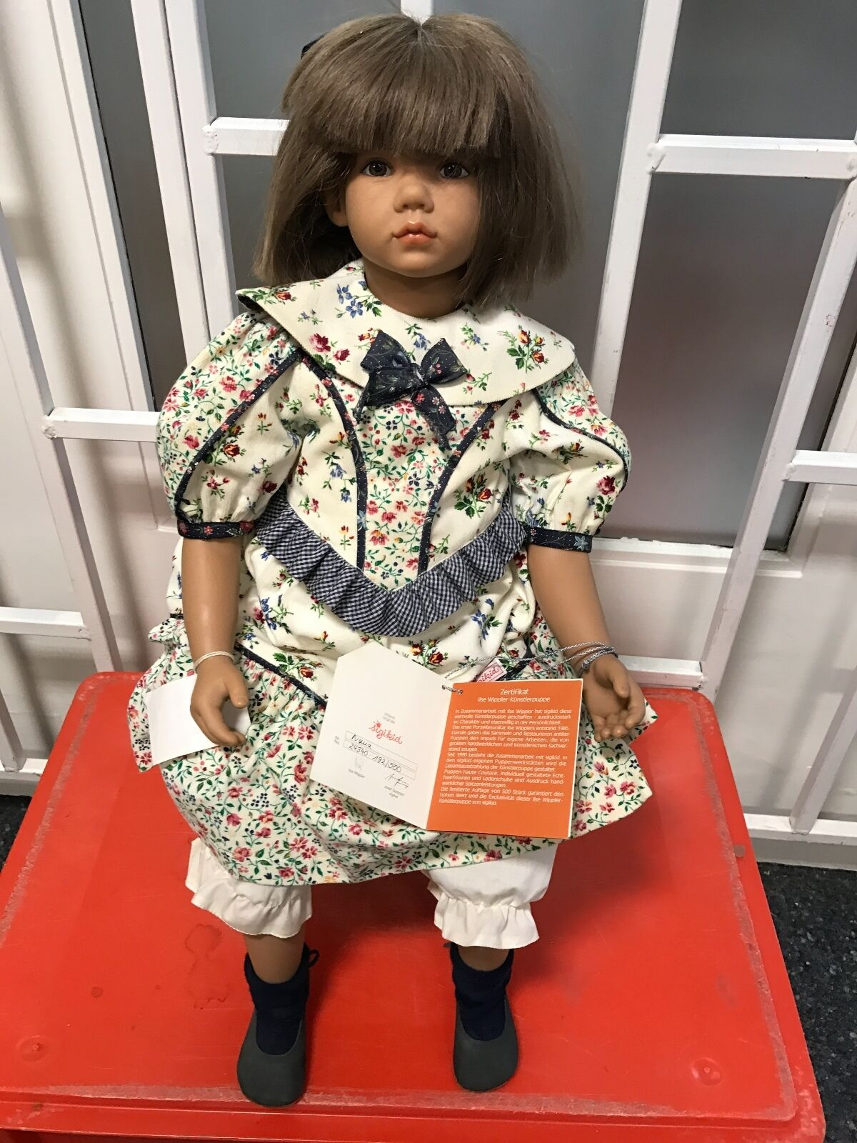 Ilse Wippler vinile bambola nana 62 CM. OTTIMO stato.