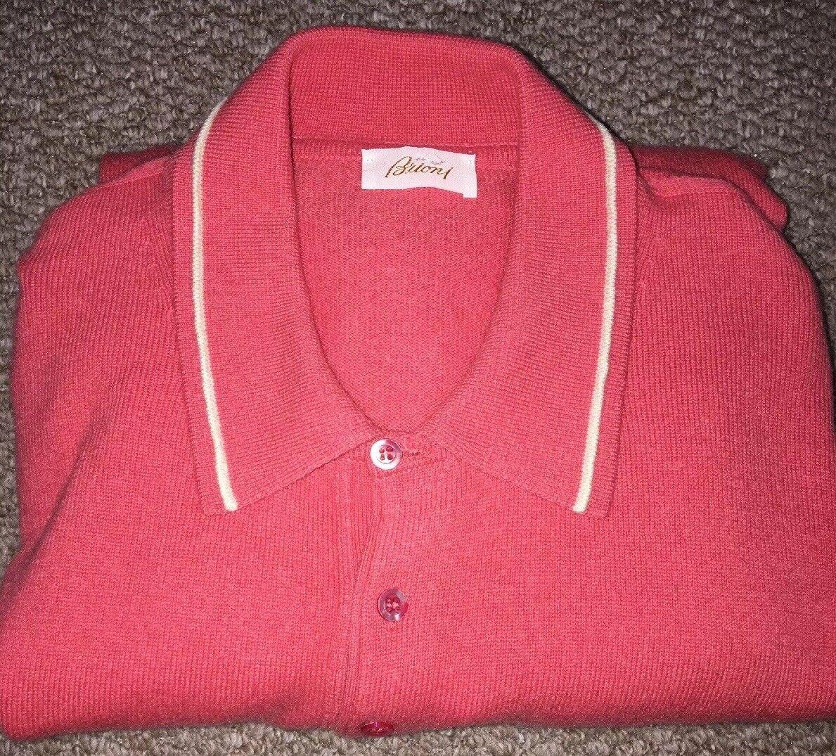 Brioni 100% Cashmere Classic Jumper Sweater Polo Top size XL (56) FREE P&P