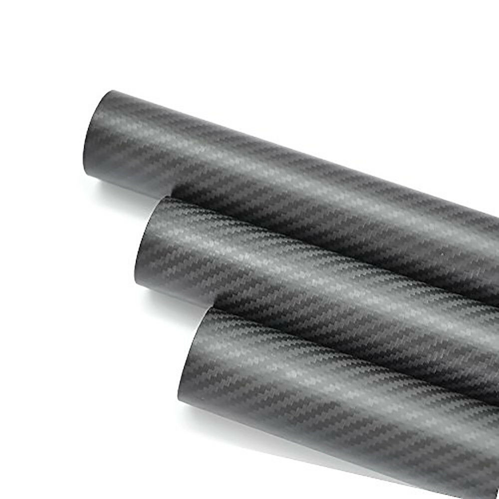 OD25mm ID21mm1000mm 3K 3K 3K Carbon Fiber Tube  Roll Matt Surface (US Warehouse 1PC) bd30b3