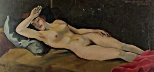 Signed-Walter-Gottfried-LYING-NUDE-dated-47