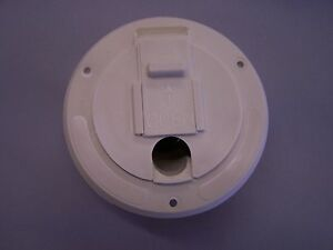 rv camper cord hatch cover round hole size 3 1 8 ebay. Black Bedroom Furniture Sets. Home Design Ideas