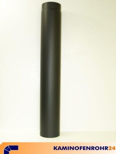 Rauchrohr Ofenrohr Verlängerung 100 cm schwarz Ø 120 mm