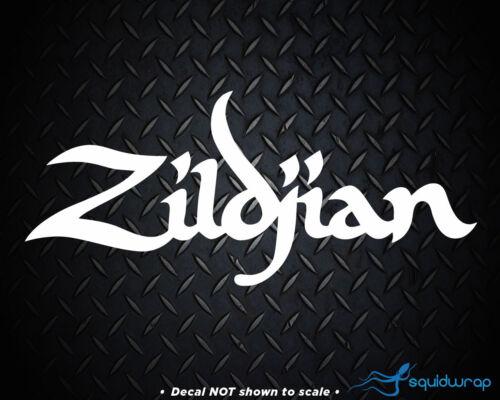 "Zildjian Car Decal Laptop Sticker WHITE 8/"""