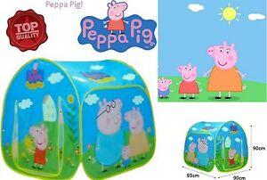 buy popular 096bb 6595a Dettagli su GIOCO TENDA CASETTA IN TELA PEPPA PIG NUOVA IMBALLATA