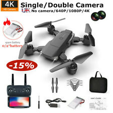 Drone GPS WIFI FPV 4K 1080p HD Dual Camera Foldable Selfie RC Quad copter Toy UK