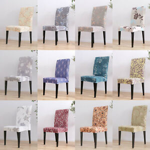 Flowers-Printed-Stretch-Dining-Chair-Cover-Protector-Hotel-Seat-Slipcover-Decor