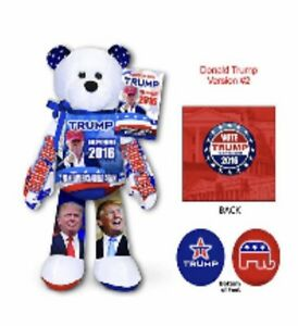 President-Donald-Trump-Collectible-Beanie-Bean-Gift-BEAR-election-Campaign-NEW