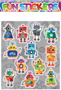 Pinata Toy Loot//Party Bag Fillers Wedding//Kids 6 Robot Sticker Sheets