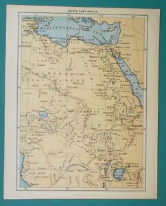 1892 LITHOGRAPH MAP - NORTH EAST AFRICA Egypt Libya Sudan