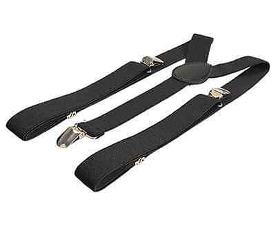 1PCS Unisex Clip-on Braces Elastic Y-back Suspenders belt Black US