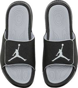 edaff3495eba Nike Jordan Hydro 6 Black White Wolf Grey Men s Sandals Size 8 ...