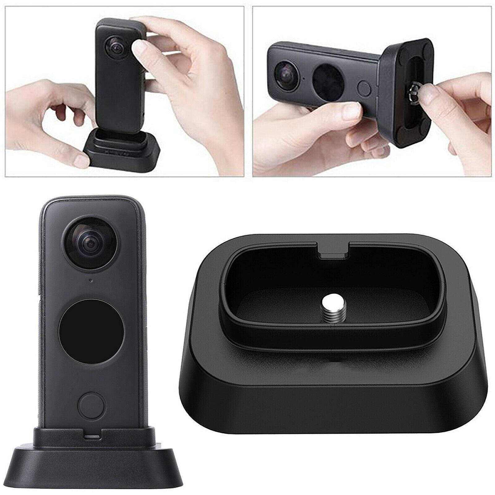 Desktop Support Base Brackets Holder Stand for Insta360 One X2 Panoramic Camera