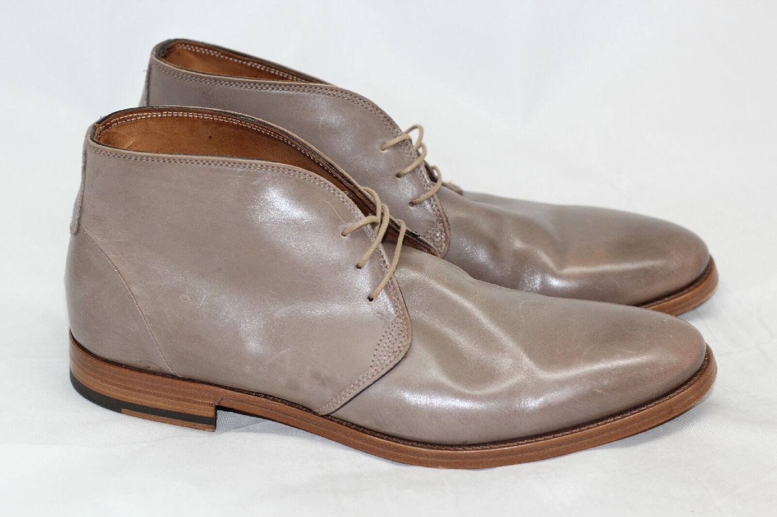 Antonio Maurizi Chukka Tobillo botas De Cuero Negro-VISONE- 9US (W35)