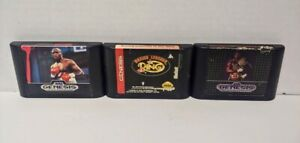 Boxing Legends, Buster + Evander Boxing - Sega Genesis Working 3 Game Lot