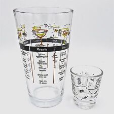 Good Item 1 Libbey Barware Pint Glass With 7 Cocktail Recipes And Retro Shot  Glass Lot Of 2  Libbey Barware Pint Glass With 7 Cocktail Recipes And Retro  Shot ...