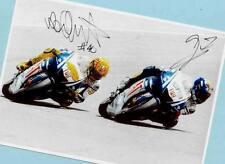 Valentino ROSSI - Jorge LORENZO - AK Bild 21x15 - Print Copie + Moto AK signiert