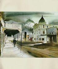 "1970 Vintage ALASKA Full Color Art Plate ""SKAGWAY MAIN STREET"" McIntyre Litho"