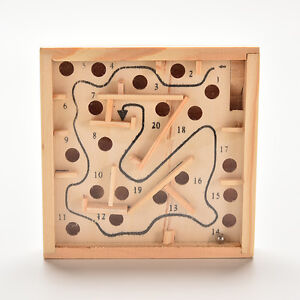 Puzzle-Toys-Wooden-Labyrinth-Balance-Board-Game-Children-Educational-JB
