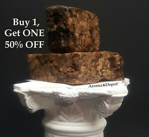 Raw-African-Black-Soap-4-oz-Bar-100-Unrefined-Pure-Natural-Organic-From-Ghana