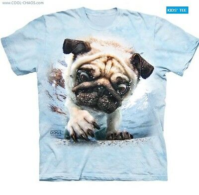 Underwater Dogs Pug T Shirt Tie Dye Kids T Shirt Funny Pugs Funny Dog Tee Ebay