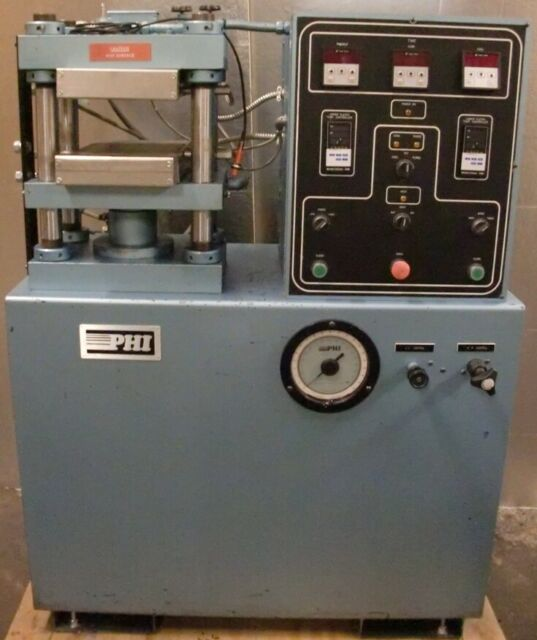 PHI 20 TON HEATED / COOLING PLATEN STRAIN ROD BENCH PRESS WORKING